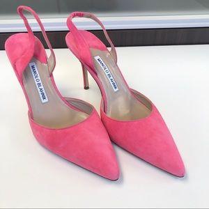 Manolo Blahnik Carolyn Pink Heels